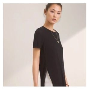 Aritzia Wilfred Capucine Tee Blouse Top Embroider